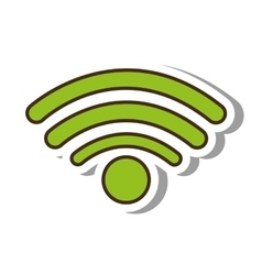 wifi signal service isolated icon vector image