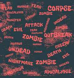 Zombie relative tags set vector
