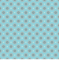 Blue White Seamless Pattern Oriental Style vector image