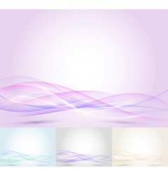 Colorful transparent wave - abstract background vector image vector image