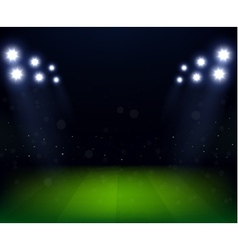 Football Stadium at night with spotlight vector image