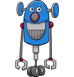 Funny robot cartoon vector