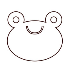 kawaii animal icon vector image vector image