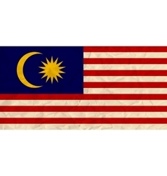 Malaysia paper flag vector image