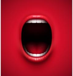 Scream background vector image vector image