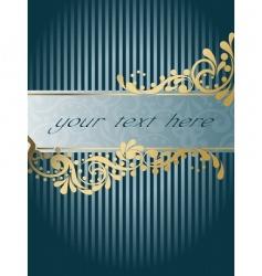 vintage victorian banner vertical vector image vector image