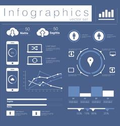 Info graphics mobile data set vector
