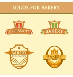 Set of logos for the bakery vector image vector image