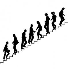 stair walkers vector image