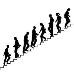 stair walkers vector image vector image