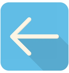 Arrow feft icon vector image vector image