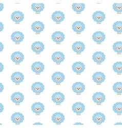 Blue sheep Pattern vector image vector image