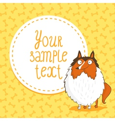 Card background with collie vector image
