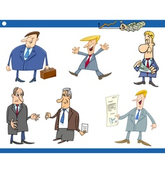 cartoon set of businessmen vector image