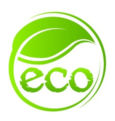 Eco green seal vector image vector image