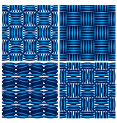 Geometric seamless backgrounds vector image