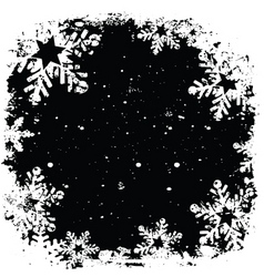 grunge snowflake background vector image vector image