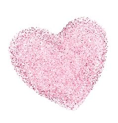 heart shape with decorative texture vector image vector image