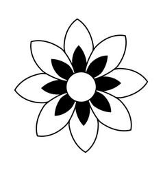 monochrome contour of figure flower icon floral vector image
