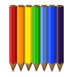 Rainbow pencils vector image
