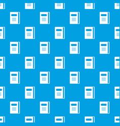 Tutorial pattern seamless blue vector