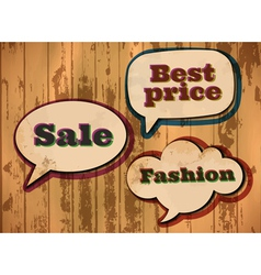 vintage sale speech bubbles vector image