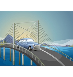 A car on the road vector image