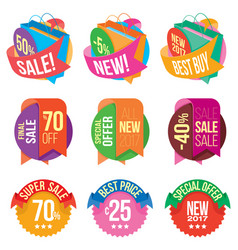 banners and stickers containing information about vector image