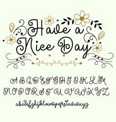 Calligraphy tattoo alphabet english script vector