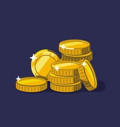 coins golden money stack vector image