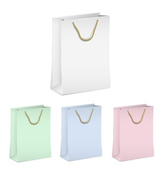 Empty shopping paper bags vector image