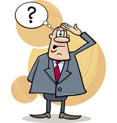 funny confused boss vector image vector image