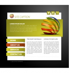 web page template vector image vector image