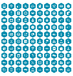 100 auto service center icons sapphirine violet vector