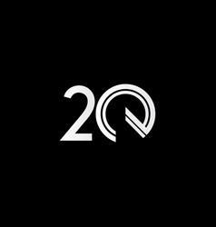 20 years anniversary celebration white line vector