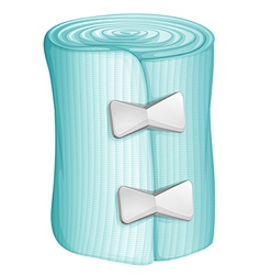 A blue bandage vector