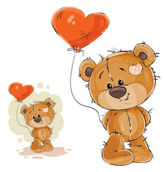 a brown teddy bear holding vector image