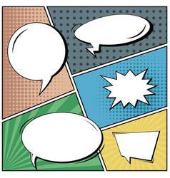Abstract creative concept comic pop art vector