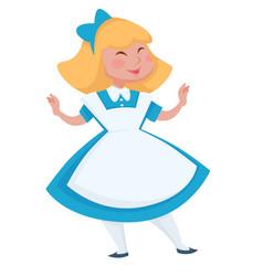 Alice in wonderland main character or girl hero vector