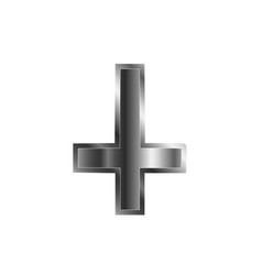 an inverted cross vector image