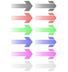 arrow from decreasing dots vector image
