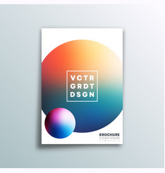 background with colorful gradient ball design vector image
