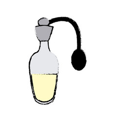 Bottle perfume or essence aroma spa care vector