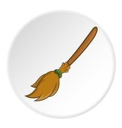 Broom icon cartoon style vector