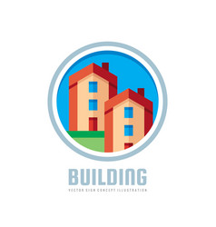 building - logo template concept vector image