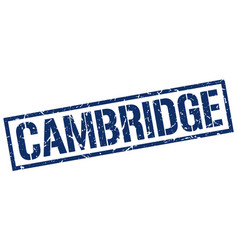 Cambridge blue square stamp vector