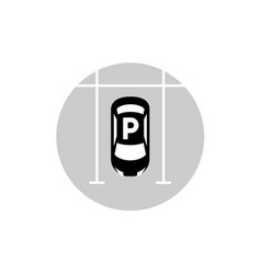 car parking lot icon vector image