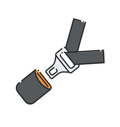 car seat belt and lock vector image