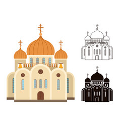 christian church icons vector image