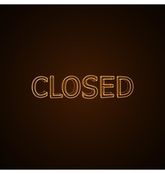 CLOSED neon sign vector